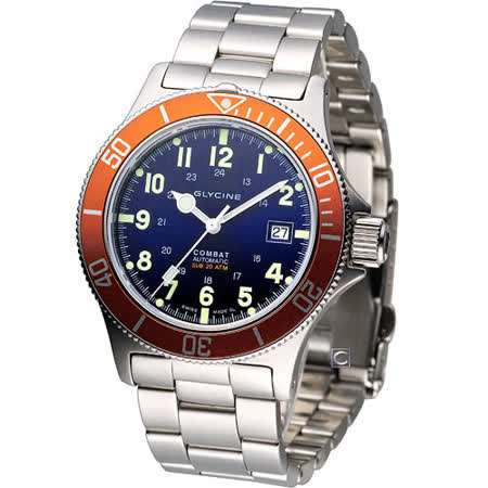 GLYCINE COMBAT 200米防水機械腕錶 3863.18