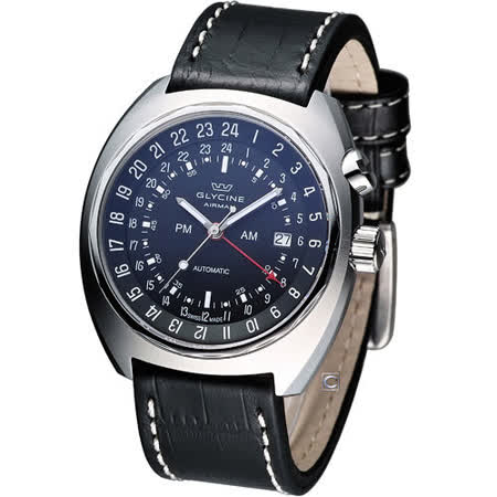 Glycine Airman SST 12 飛行員雙時區機械錶 3903.199