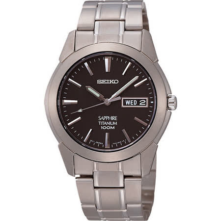 SEIKO 鈦金武士時尚腕錶-鐵灰 7N43-0AS0D