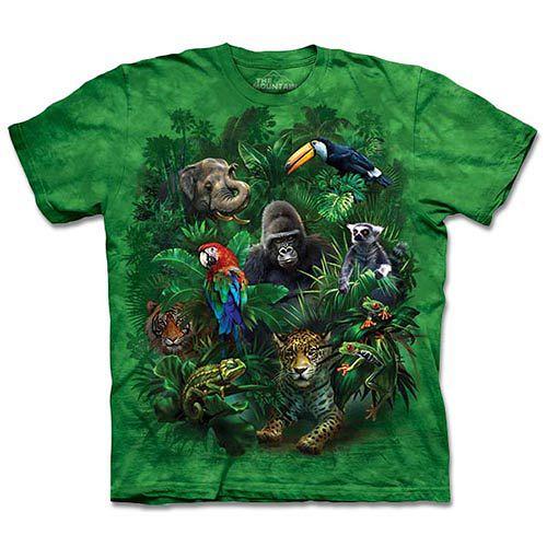 ~摩達客~^( ^)美國 ~The Mountain~自然純棉系列 叢林之友 T恤