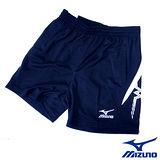 Mizuno 平織網.羽.桌球短褲56DF-28814(深丈青)