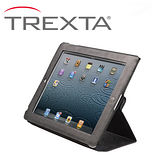Trexta Slim Folio New iPad 旋轉真皮皮套- 黑色