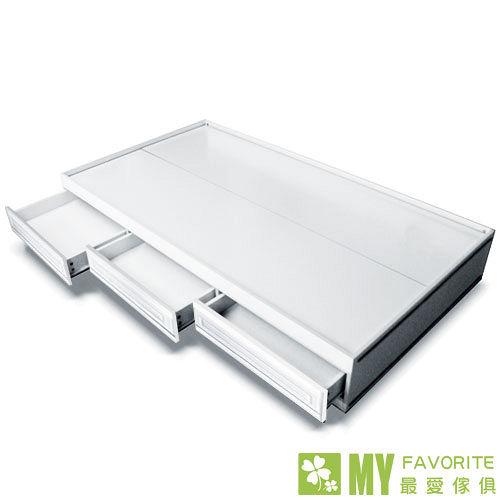 最愛傢俱 歐樂雅 子拉床+記憶床墊 (白色歐風系列含3格抽屜)