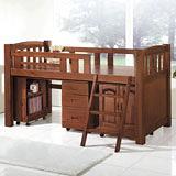 【優利亞-東京物語】多功能書桌型單層床