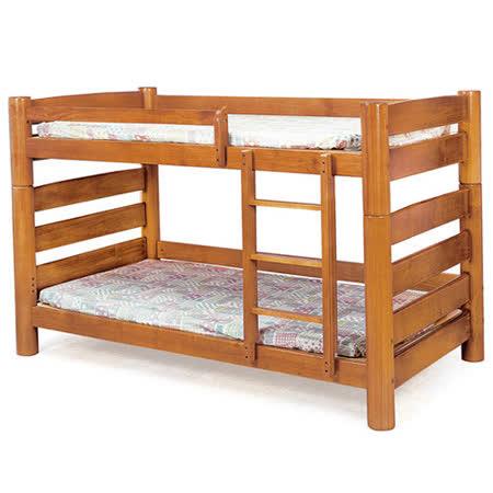 【優利亞-曠野柚木色】雙人5尺雙層床