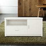 日式木作-簡約風3尺電視櫃(白色)