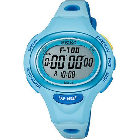 SEIKO LUKIA Running Style 活力風采電子錶-藍 S602-00A0B