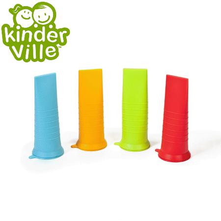 美國Kinderville寶寶矽膠製冰器 (一組4入, 紅色+綠色+藍色+橙色)
