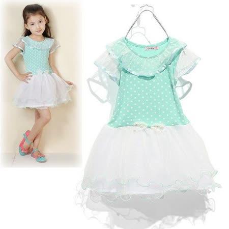 夏日《水玉夢幻紗-綠色》甜美氣質小洋裝【現貨+預購】