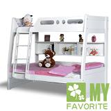 最愛傢俱 歐樂雅 雙層床+記憶床墊 (白色歐風款式)