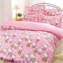 【享夢城堡】HELLO KITTY生活日誌系列-四件式雙人床包兩用被組