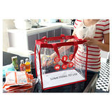 [PSmall]旅遊野餐必備 PVC透明收納袋 紅色收納包大包包(J1965)