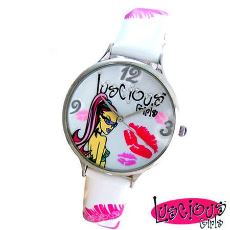 【私心大推】gohappy快樂購物網【Luscious Girls】時尚耀動華麗個性風鑽錶-白色效果好嗎台北 統一 阪急 百貨