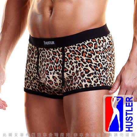 美國HUSTLER-性感模男平口內褲-豹紋色(L)