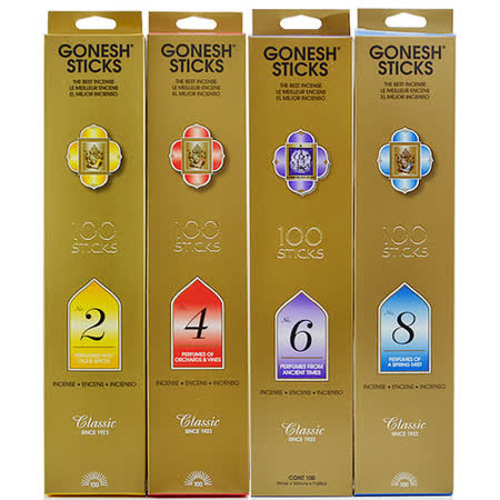 GONESH 美國 精油線香 數字系列 100支入 四款可選