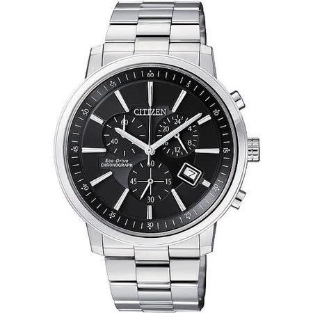 CITIZEN 光動能都會型男腕錶-黑 AT0490-54E