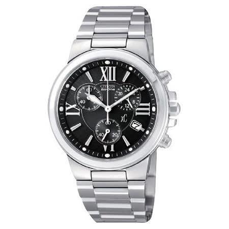 CITIZEN xC 戀愛物語光動能計時腕錶-黑 AT0650-50E