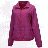 【FIT】女新款 透氣吸排抗UV 防曬外套.透氣外套.薄夾克/排汗.吸濕.輕量.快乾.休閒時尚款/ ES2301  葡萄紫