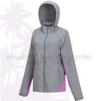【FIT】女新款 透氣吸排抗UV 撞色防曬外套.透氣外套.薄夾克/排汗.吸濕.輕量.快乾.休閒時尚款/ ES2303 科技灰
