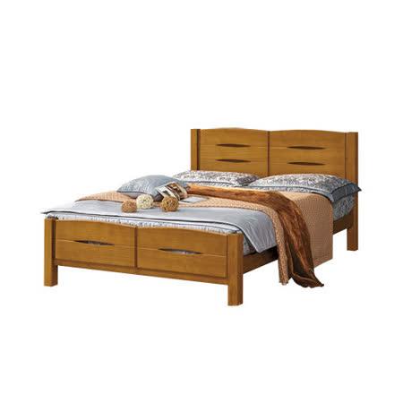 目黑通-貝爾斯6尺實木加大雙人床架