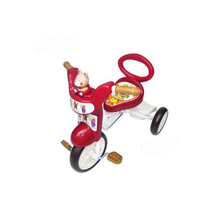 【MIT台灣童車】快樂熊三輪車 (紅/橘)