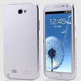 【Samsung Note2航空鋁殼】超薄免螺絲金屬鋁合金手機殼-銀色