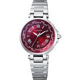 CITIZEN 時空之旅5局電波腕錶-紅/銀 EC1010-57W