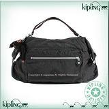 【Kipling】BASIC系列 御飯糰造型手提兩用包 黑色373-5177-899