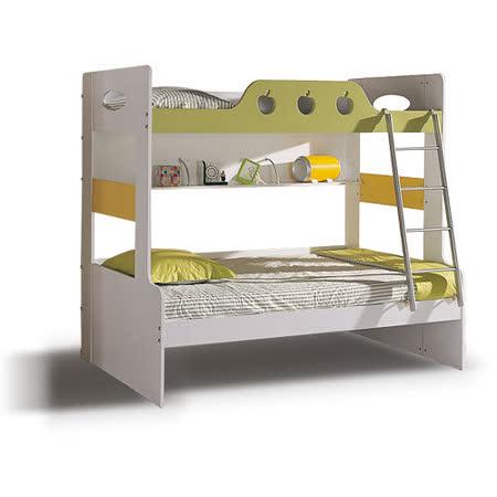 【喬立爾】最愛傢俱 田園風格 蘋果派 雙層床+床墊 (田園蘋果造型風格)