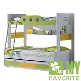 最愛傢俱 田園風格 蘋果派 雙層床+子拉床+記憶床墊