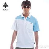 【SPAR】男款 抗UV機能上衣/原紗線/POLO衫.具舒適.吸濕排汗.快乾透氣.抗臭.耐穿排汗衣 R13363