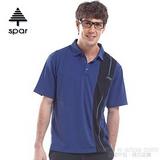 【SPAR】男款 抗UV機能上衣/原紗線/POLO衫.具舒適.吸濕排汗.快乾透氣.抗臭.耐穿排汗衣 R13360