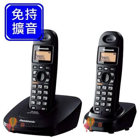 《Panasonic》 2.4GHz數位無線電話 KX-TG3612 (經典黑)