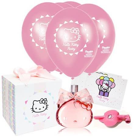 Hello Kitty 歡樂派對女性淡香水禮盒(75ml)送同款針管小香(1.5ml)