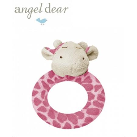 Angel Dear 動物家族手搖鈴環 (粉紅長頸鹿)