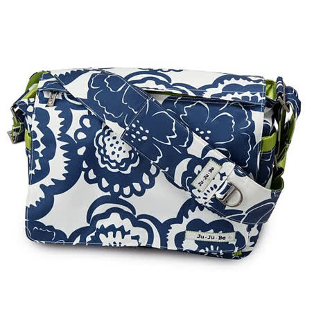【美國JuJuBe媽咪包】BeAll 肩背包-Cobalt Blossoms藍色繽紛-外出專用媽媽包