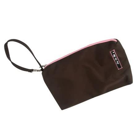 【美國Ju-Ju-Be媽咪包】BeQuick手拿包-Brown/Bubblegum草莓可可-可放尿布紙巾媽媽包
