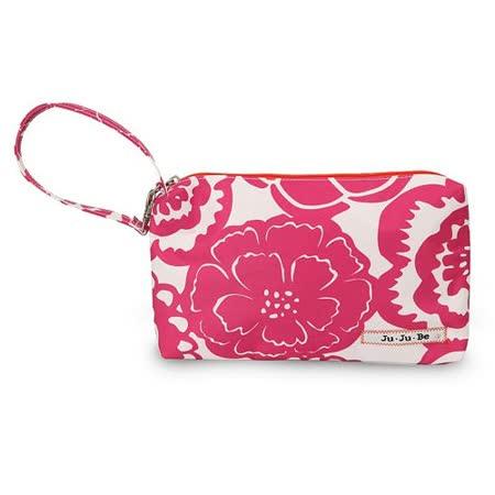 【美國Ju Ju Be媽咪包】BeQuick手拿包-Fuchsia Blossoms魅彩繽紛-可放尿布紙巾媽媽包