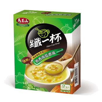 馬玉山纖一杯奶香南瓜濃湯15g*3入