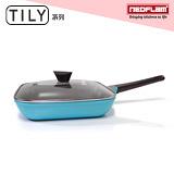 韓國NEOFLAM Tily系列 28cm陶瓷不沾方型烤盤+玻璃鍋蓋(EK-TL-G28)