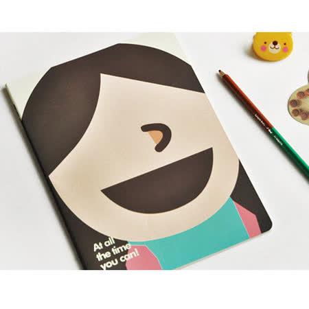 【PS Mall】可愛女孩車線筆記本(B5)直劉海女孩(J1983)