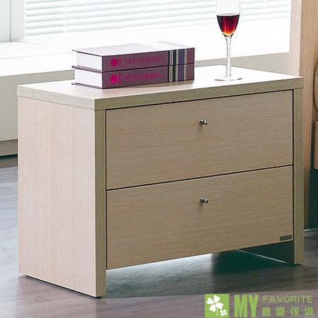 【喬立爾】最愛傢俱 丹麥風情 雙抽床頭櫃 (白橡洗白)
