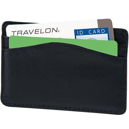 《TRAVELON》手感真皮證件防護夾(黑)