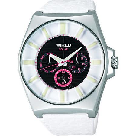 【真心勸敗】gohappy線上購物WIRED Solar 復刻太陽能腕錶-白 V14J-X005Z評價愛 買 中港 店