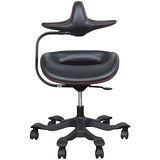 iPole7人體工學椅(優質進口牛皮)-黑色