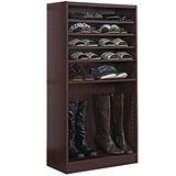 【奧克蘭】開放六層鞋櫃(二色)
