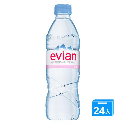 EVIAN愛維養天然礦泉水500ml^~24入箱