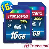 《超值二入組》Transcend 創見 SDHC 16GB UHS-1 Class10 記憶卡-送專用讀卡機