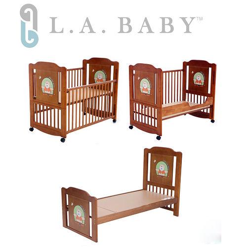 L.A. Baby 美國加州貝比 布魯克林三階段嬰兒成長大床木床原木床嬰兒床^(新生兒~1