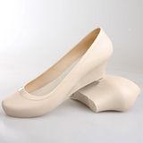 《JOYCE》紐約簡約風內增高防水楔型鞋-米白